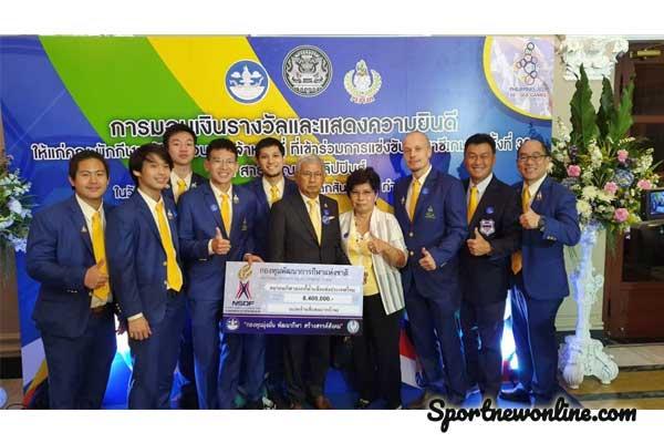 นายกฯ มอบเงินรางวัลให้นักกีฬาทีมชาติไทย ที่ได้เหรียญชีเกมส์